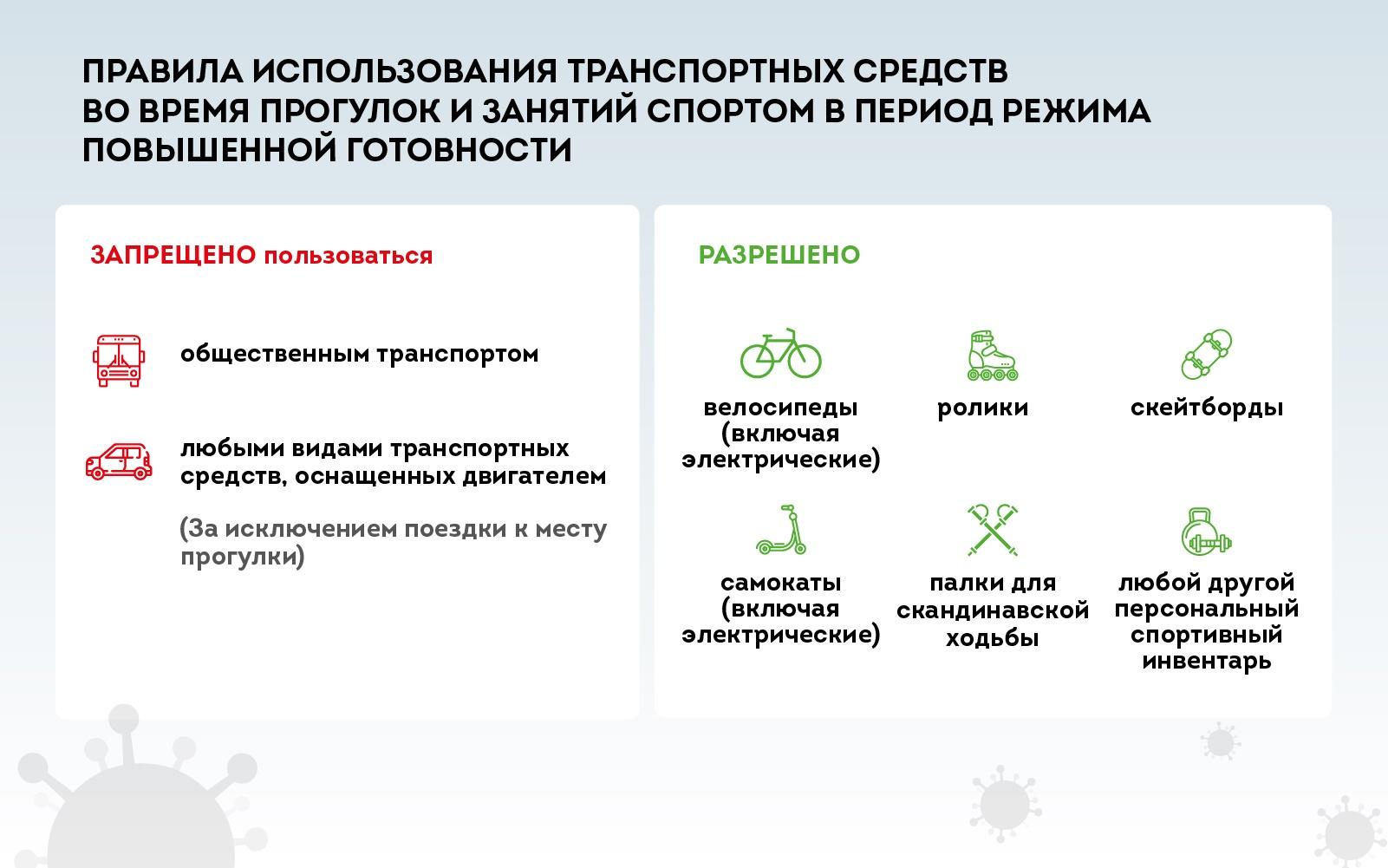 Правила использования транспортных средств с 1 июня 2020 года